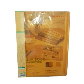 5 x A4 POLY CLEAR POCKET BOOK WALLET 20 pockets a book office school stationery